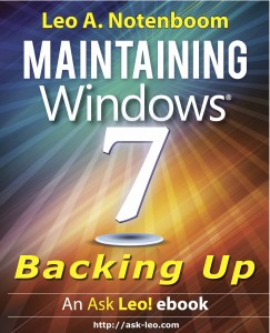 Maintaining Windows 7 - Backing Up